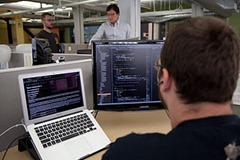 Picture of software development from Wikipedia (http://en.wikipedia.org/wiki/File:Coding_Shots_Annual_Plan_high_res-5.jpg)