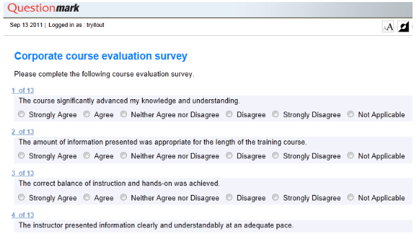 eval survey