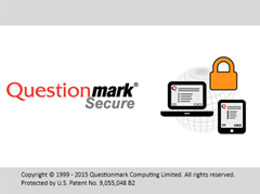 Questionmark Secure splash screen